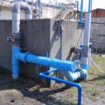 水産団地㈿の排水処理場の配管の清掃を行いました